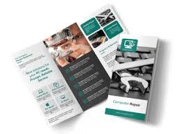 Brochures Green Computer Repair Tri Fold Brochure Template