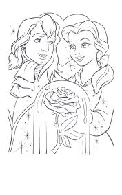 Small Picture Belle Beauty And The Beast Coloring Pages Coloring Coloring Pages