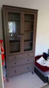 ikea hemnes glass door cabinet with 3 drawers