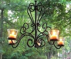 outdoor candle chandelier non electric chandeliers