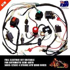 50 70 110 125cc wiring harness loom atv quad bike electric start image is loading 50 70 110 125cc wiring harness loom atv