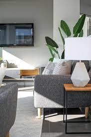 Moderne Moderne Offene Küche Wohn Esszimmer Graue Wände Grau