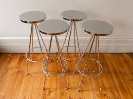 Modern Kitchen Furniture Furniture Round Vista Chrome Retro Bar Stools For Modern Kitchen