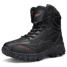 <b>AILADUN Men's High-top Outdoor</b> Military Boots Lace Up Shoes ...