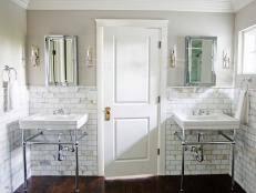 Exquisite Marble Tile Bath