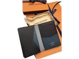 louis vuitton pocket organiser louis vuitton supreme collection wallets small accessories leather black ref 44188