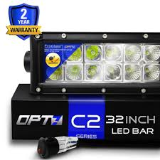 best inch led light bar reviews com opt7 c2 series 32 inch off road cree led light bar floodspot beam