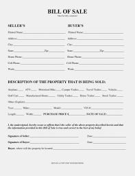 Bill Of Sale Sample California With Examples Plus Template Together
