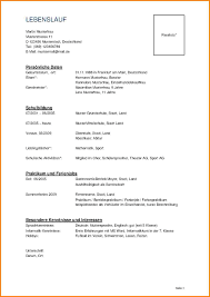 4 Lebenslauf F R Schule Resignation Format