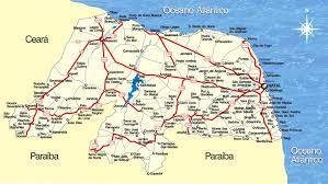 Resultado de imagem para mapa turistico do rn