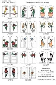 stained glass cabinet door designs doors kitchen insert