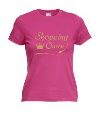 Motiv T Shirt Damen Shopping Queen 6 Fafuarcom Onlineshop