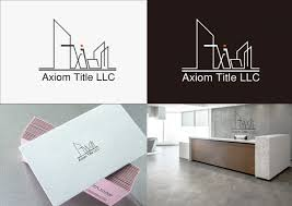 Y Designs Llc Colorful Elegant Real Estate Logo Design For Axiom Title