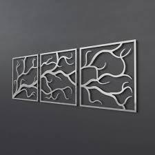large 3 piece metal wall art