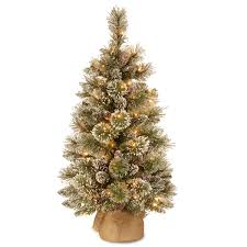 Beautiful Pre Lit Battery Operated Christmas Trees Part - 5: 4ft Pine Cone  Burlap Artificial