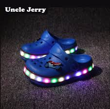 Toddler Boy Light Up Sandals Us 9 34 45 Off Unclejerry Kids Led Sandals Light Up Children Summer Shoes Glowing Slippers For Boys And Girls Flashing Beach Shoes For Toddler In