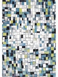 cuba matrix squares teal rug 20719 030