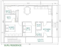 indian home plans 2 bedroom house plans plans for east facing plot
