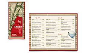 Microsoft Word Restaurant Menu Template Beauteous Japanese Restaurant Takeout Brochure Template Word Publisher