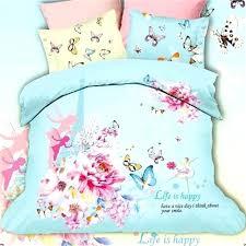 fairy bedding set blue and pink flower fairy erfly tower bedding set queen size cotton duvet fairy bedding