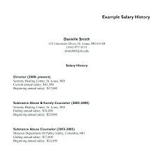 Resume With Salary History Sample Best of How To Include Salary History And Requirements On Example Sample