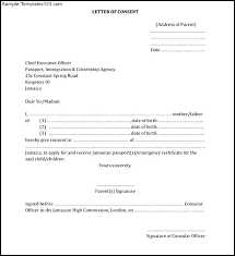 Sample Of Parental Consent Letter To Travel