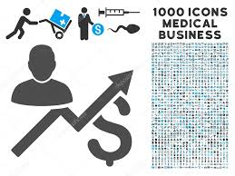 Sales Chart Icon Client Sales Chart Icon With 1000 Medical Business