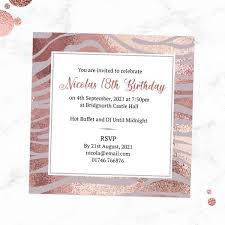 Birthday Invatations 18th Birthday Invitations Blush Tiger Print