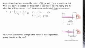 8 12b optics human eye corrective lenses calculations