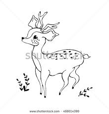cute baby deer coloring book