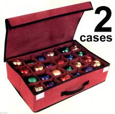 Christmas Decorations Storage Box Favorite Zippered Ornament Storage Ornament Keeper Ornament 79