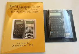 new book and new hp 35s calculator package with 200 equations pre programmed the equations are from the book useful equations for hp 35s or hp 33s