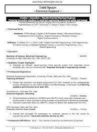 Electrical Engineer Resume Objective Electrical Engineer Resume