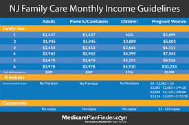 Nj Family Care Chart Easy Guide To Nj Medicaid New Jersey Family Care