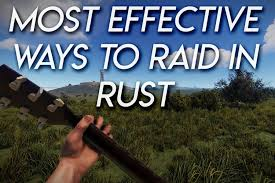 Rust Raid Chart Most Effective Ways To Raid Rust Game Voyagers
