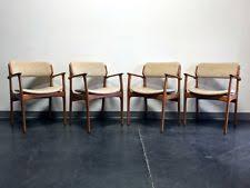 erik buch for mobler model 49 danish mid century modern teak arm chairs set 4