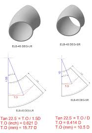 How Do I Calculate The Takeoff For A 45 Degree Elbow Joint
