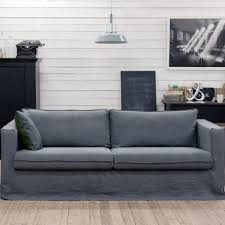 A sofa with the Bemz Loose Fit Urban Slipcover