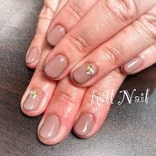 お客様nail ブラウンのワンカラーです 短いお爪でもカッコよくキマり