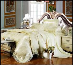 4pcs wedding beauty bedroom bedding sets luxury silk cotton cream regarding attractive home beautiful bed set plan