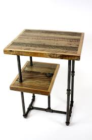 hand crafted 'galvy' industrial side tables  reclaimed wood