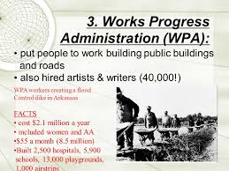works progress administration facts learning targets you will be able to 1 explain the goals of the