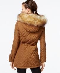 Bar III Faux-Fur-Trim Quilted Anorak - Coats - Women - Macy's & Bar III Faux-Fur-Trim Quilted Anorak Adamdwight.com