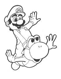 Small Picture Yoshi coloring pages flying with mario ColoringStar