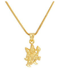 dare lord hanuman motif designer gold plated pendant with chain for men at low in india snapdeal