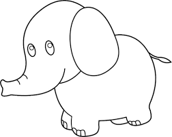 Small Picture Coloring Book Baby Elephant Coloring Pages