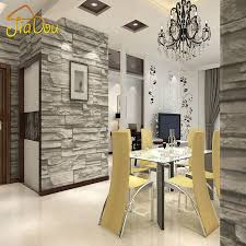 Chinese Style Dining Room Wallpaper Modern 3D Stone Brick Design Background  Vinyl Wall Paper For Kitchen ...