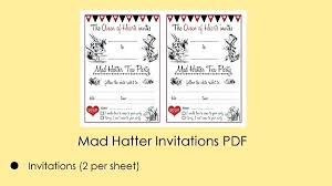 tea party templates free printable mad hatter tea party invitation templates invitations