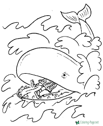 Bible Coloring Page Of Jonah And Whale