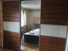 86y wardrobe b q sliding doors wardrobes 1 with full length mirror 2 7 meter like new